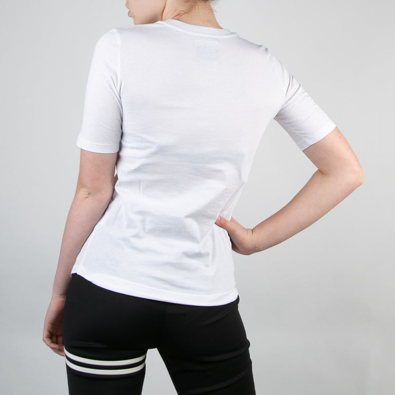 basic women's organic cotton white t-shirt by Secret Location