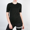 basic women's organic cotton black t-shirt by Secret Location