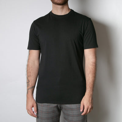 Basic mens t-shirt, black