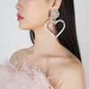 Crystal heart earrings by Alessandra Rich at Secret Location