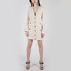 Beige tweed mini-dress long sleeve by Alessandra Rich at Secret Location