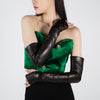 Long Fingerless Gloves, black