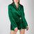 green velvet blazer with jewel button by Attico at Secret Location