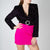 heart embellished velvet jacket with waist belt by Attico at Secret Location