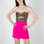 Sequin strapless bustier by Attico at Secret Location