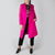 fuchsia double breast wool coat by Attico at Secret Location