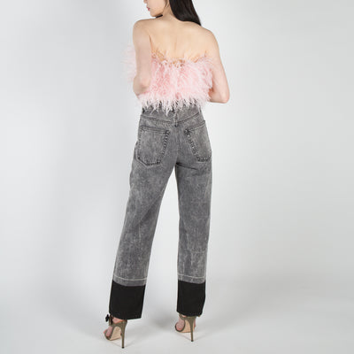 Pink Ostrich Feathers Top
