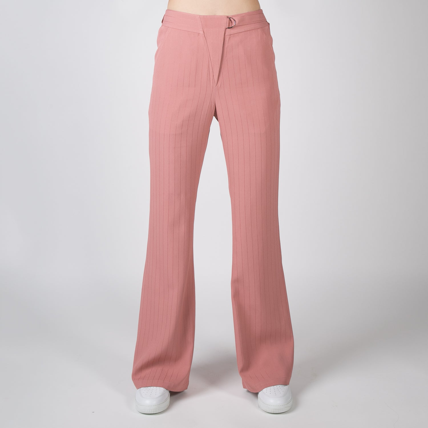 casual pink stripe pants by Dawei at Secret Location