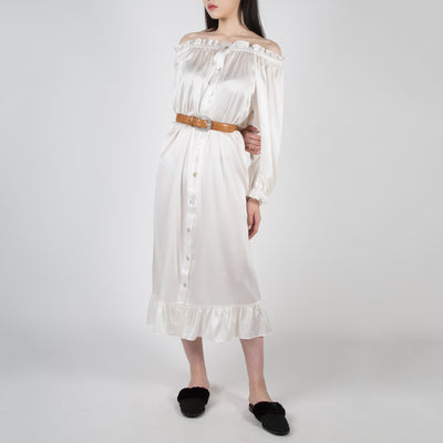 White silk dress long sleeve by Sleeper at Secret Location