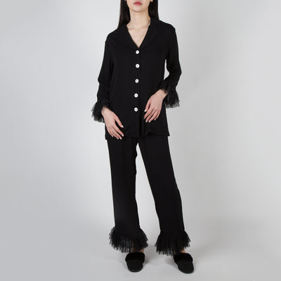 Pajama set in black by Sleeper at Secret Location