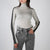 women's ribbed long sleeve turtleneck in silver by Ssheena at Secret Location