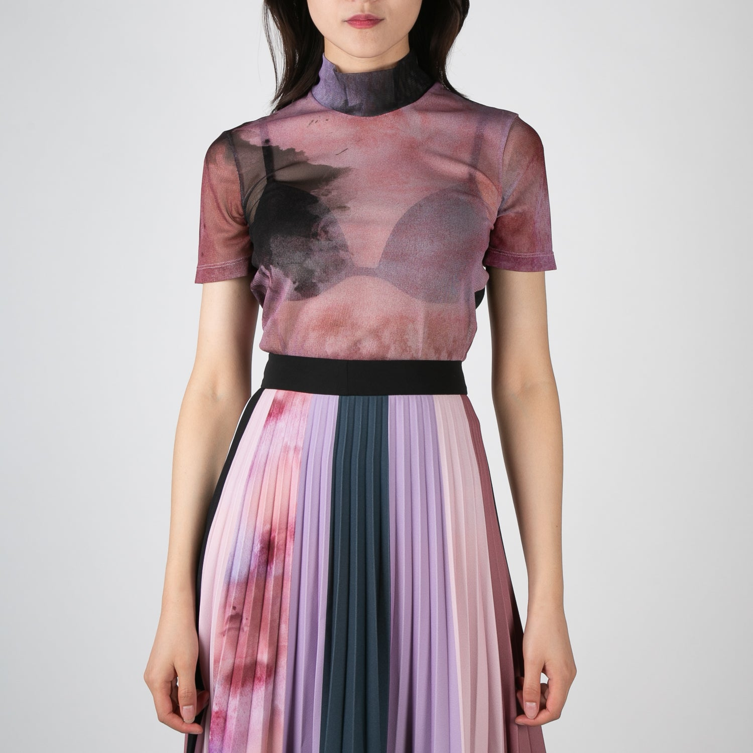 tie dye short sleeve mesh top by Ssheena at Secret Location