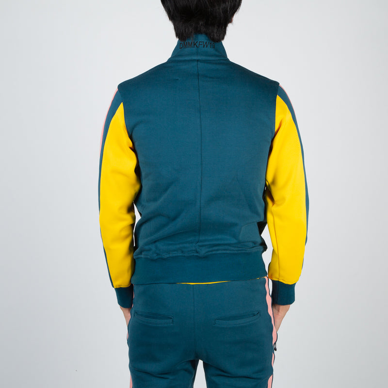 Multicoloured track jacket by Dim Mak at Secret Location
