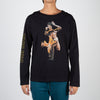Printed Bruce Lee on black long sleeve top by Dim Mak at Secret Location
