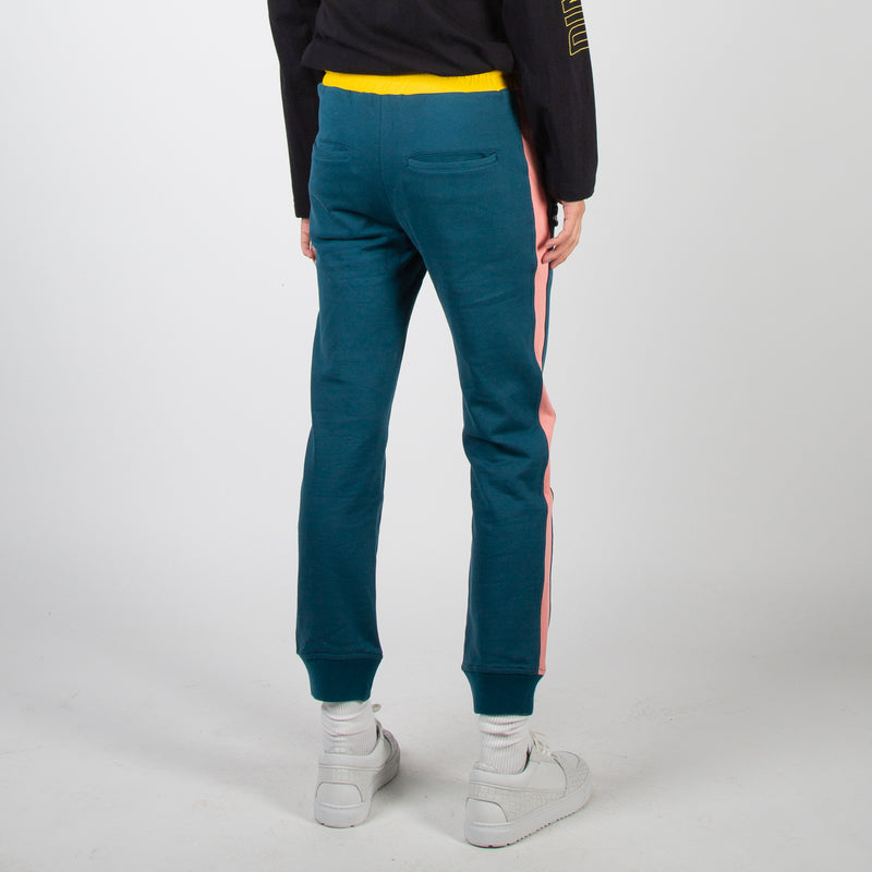 Multicoloured jogger track pants by Dim Mak at Secret Location