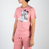 Printed Bruce Lee on pink t-shirt by Dim Mak at Secret Location