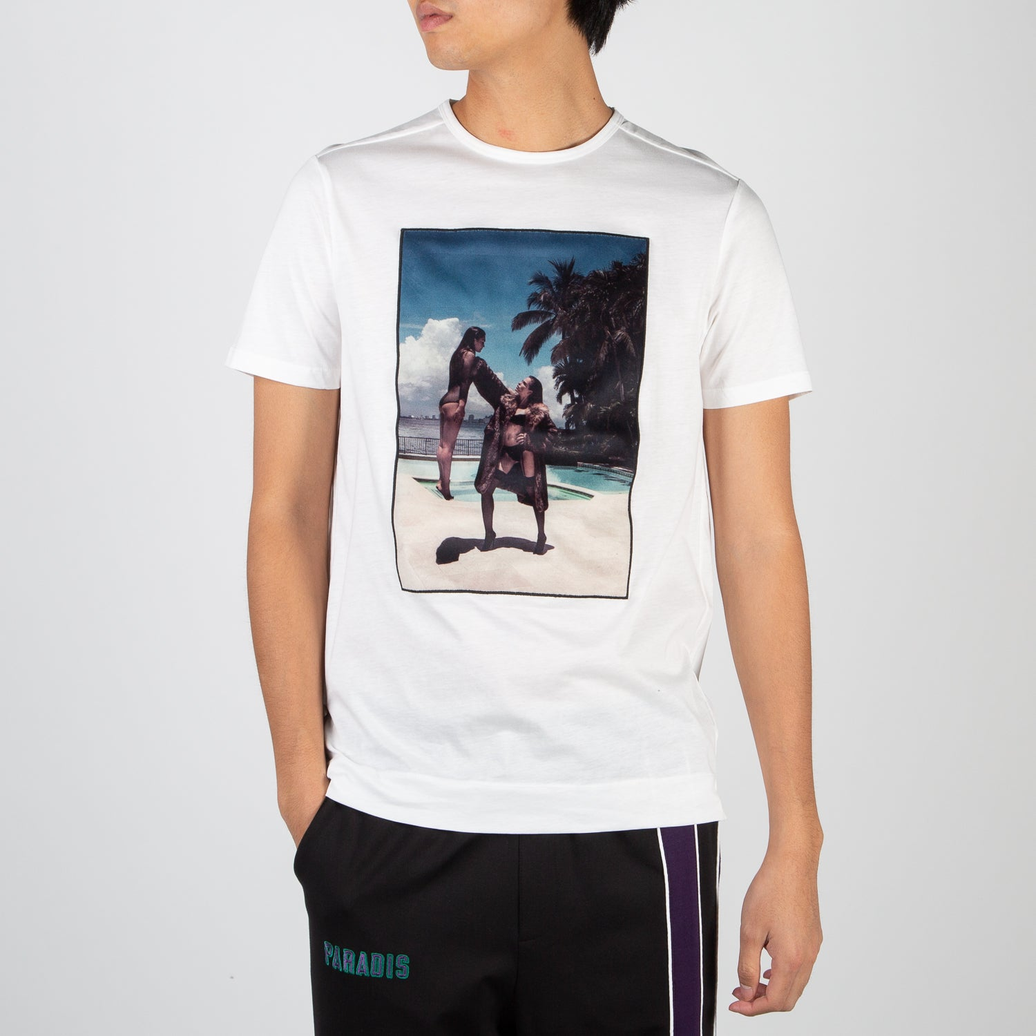 Who Is, Riocam picture t-shirt in white by Limitato at Secret Location