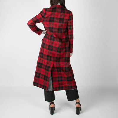 Double Breasted Long Coat, red