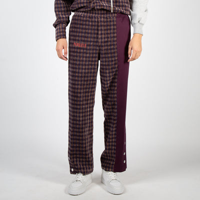 plaid lounge pants with snap buttons by 3.Paradis at Secret Location