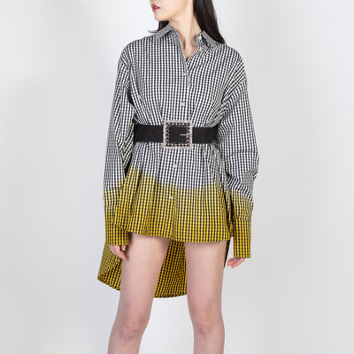 checkered blouse dress with yellow by Frenken at Secret Location