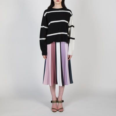 Block Knit Stripe Sweater