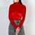 Red velvet long sleeve turtleneck by Frenken at Secret Location