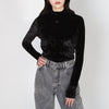black velvet long sleeve turtleneck by Frenken at Secret Location