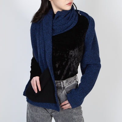 Single Sleeve Scarf, dark blue