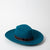 petrol blue fedora hat in fur felt by SuperDuper Hats at Secret Location