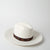 white fedora hat in fur felt by SuperDuper Hats at Secret Location