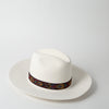 Masculine Jacquard Band Hat, white
