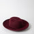 Maroon fedora hat in fur felt by SuperDuper Hats at Secret Location