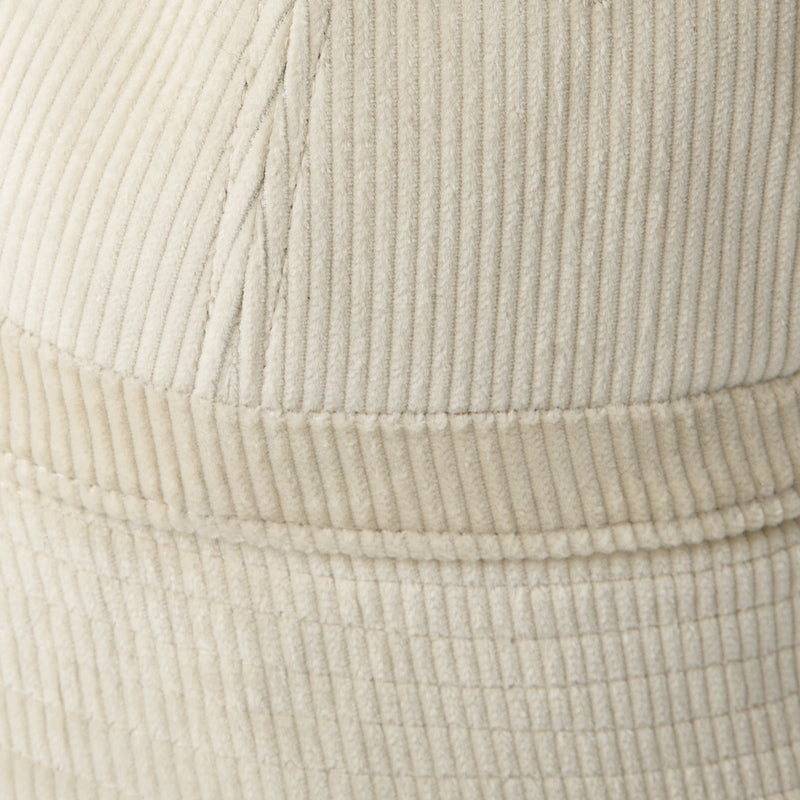 Corduroy bucket hat in white by SuperDuper Hats at Secret Location