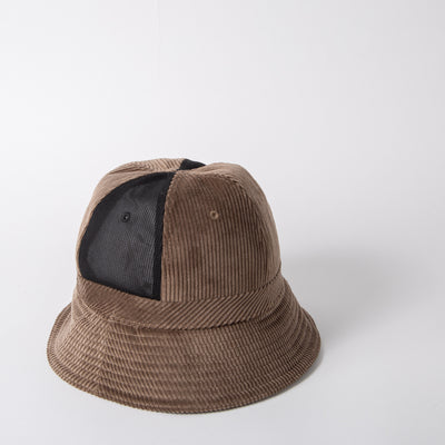 Corduroy bucket hat in taupe by SuperDuper Hats at Secret Location