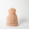 Wool blend beanie with pom-pom in pink by SuperDuper Hats at Secret Location