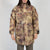 Camouflage parka in beige and brown by Blue Marble at Secret Location