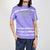 Printed tie-dye t-shirt in purple cotton by Blue Marble at Secret Location