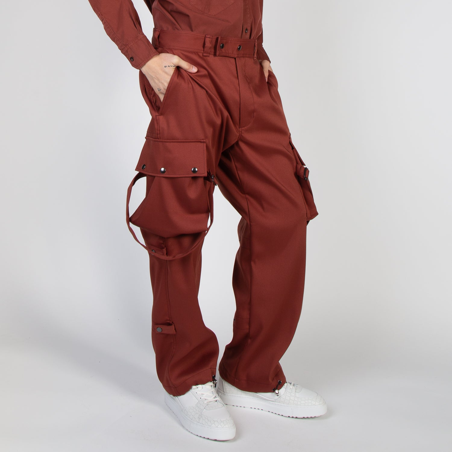Cargo Pants in rust colour by Blue Marble at Secret Location