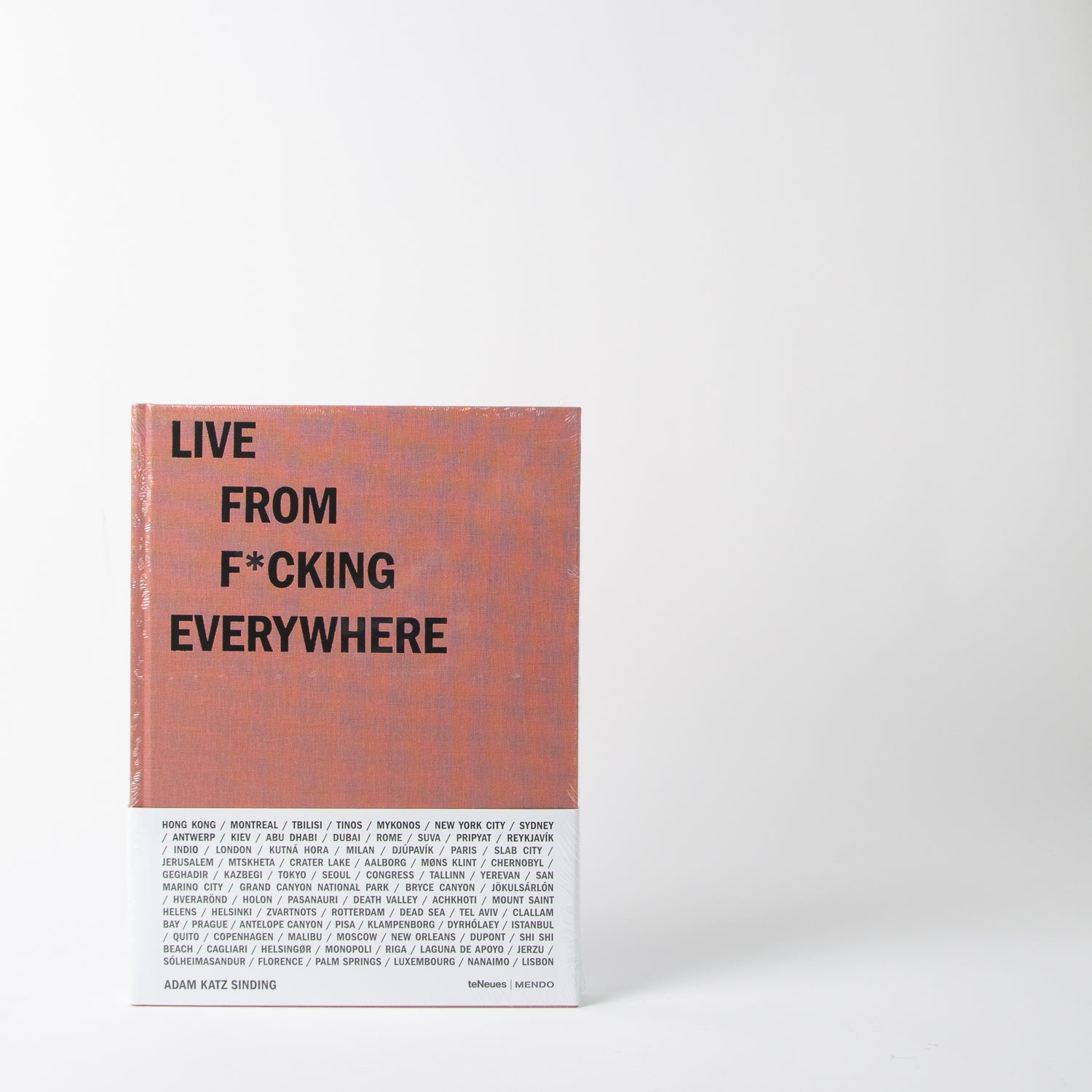Live from fucking everywhere book by Mendo at Secret Location Concept Store
