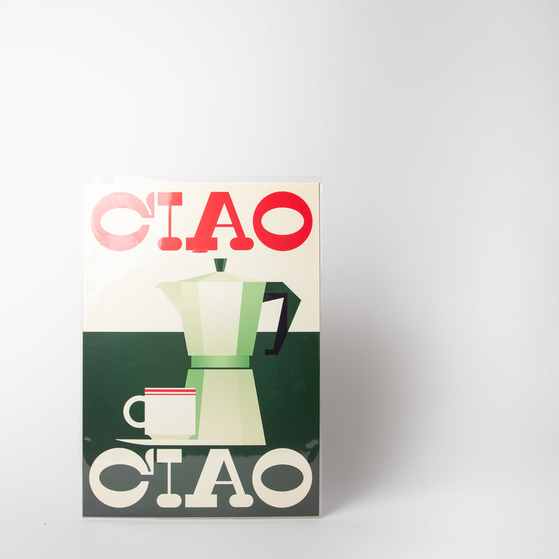 Ciao illustration by Stanley Chow Print Shop at Secret Location Concept Store