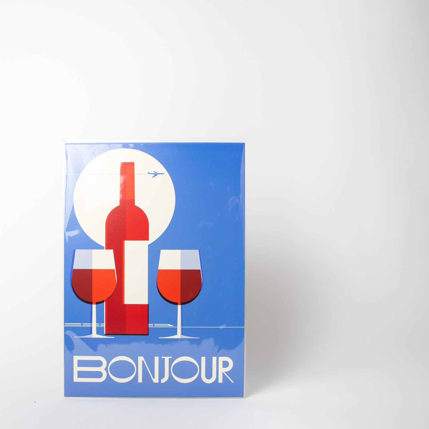 Bonjour-Hello France print by Stanley Chow Print Shop at Secret Location Concept Store