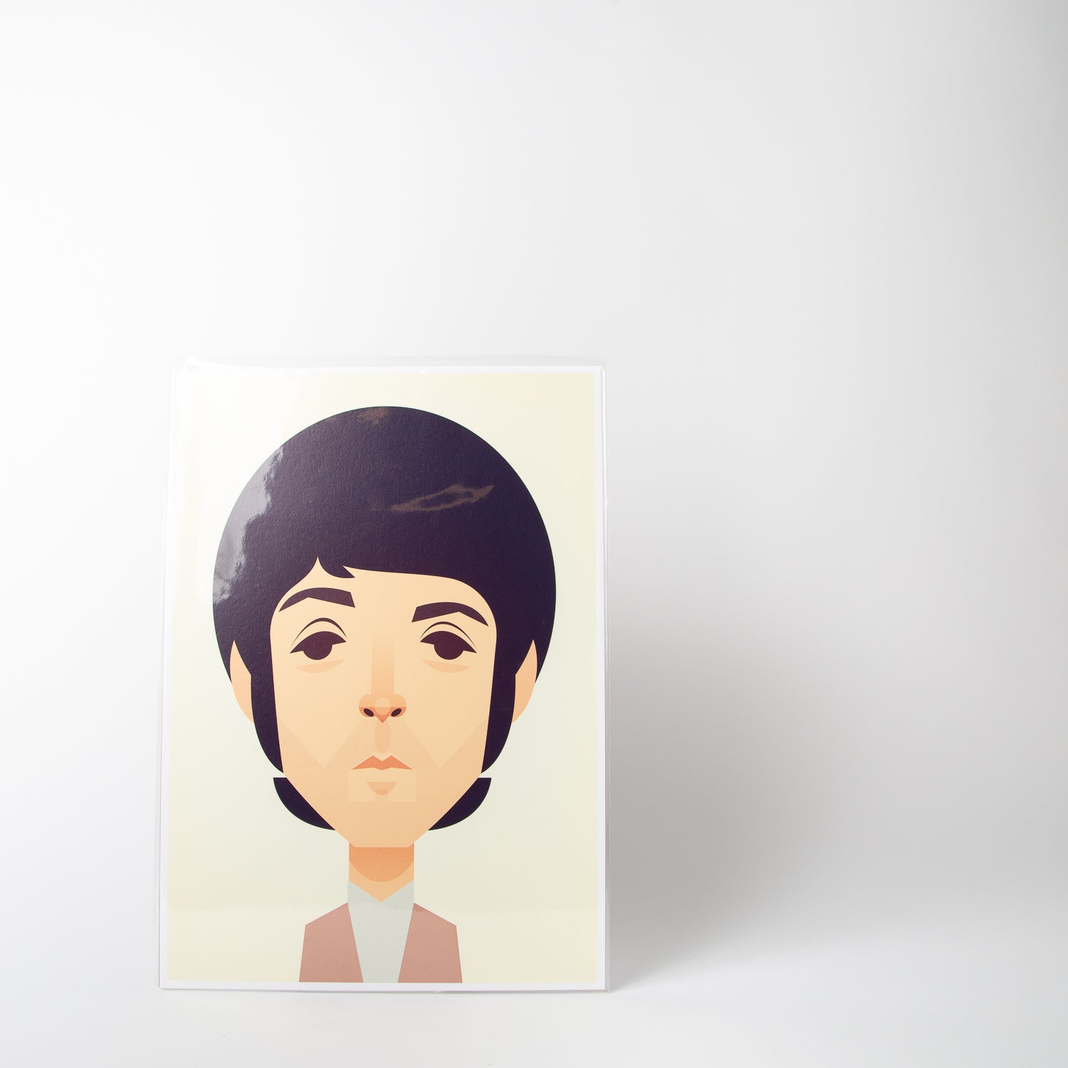 Paul McCartney portrait by Stanley Chow Print Shop at Secret Location