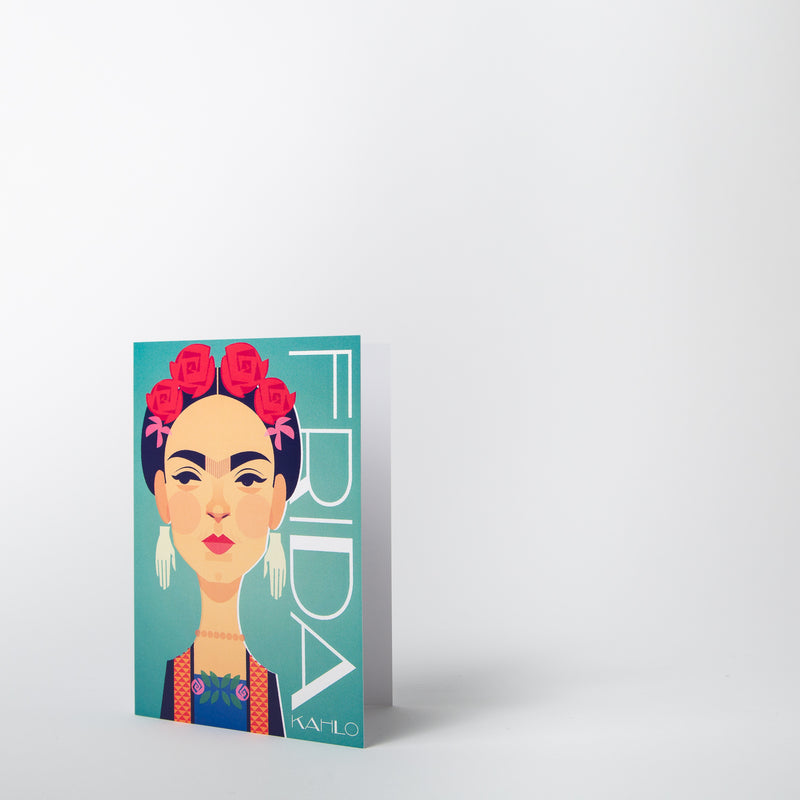 Frida Kahlo card by Stanley Chow Print Shop at Secret Location