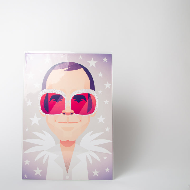 Elton John portraiture by Stanley Chow Print Shop at Secret Location
