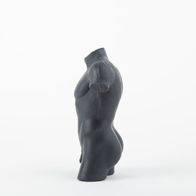 Male Form Candle, noir