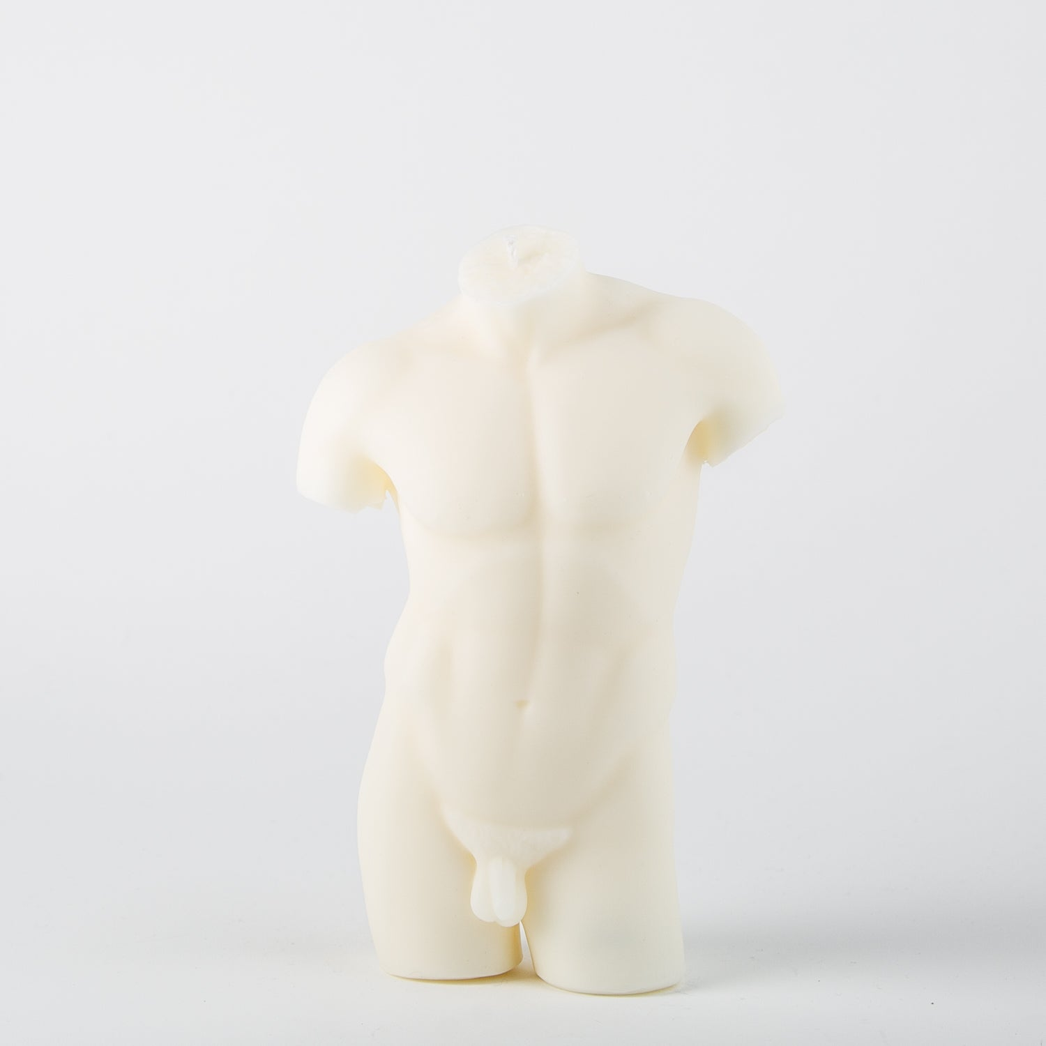 white male candle body form by Hannah Candles at Secret Location Concept Store