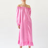 zephyr loungewear dress in pink by sleeper at secret location concept store