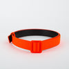 tonal leather belt in orange by Ssheena at Secret Location