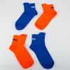 Ribbed Ankle Socks, orange