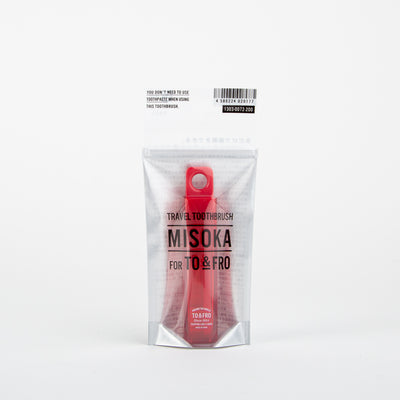 Travel Toothbrush, red